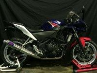 HONDA CBR250R TRエキゾーストシステム アルミサイレンサーΦ100x500mm レーシングタイプ