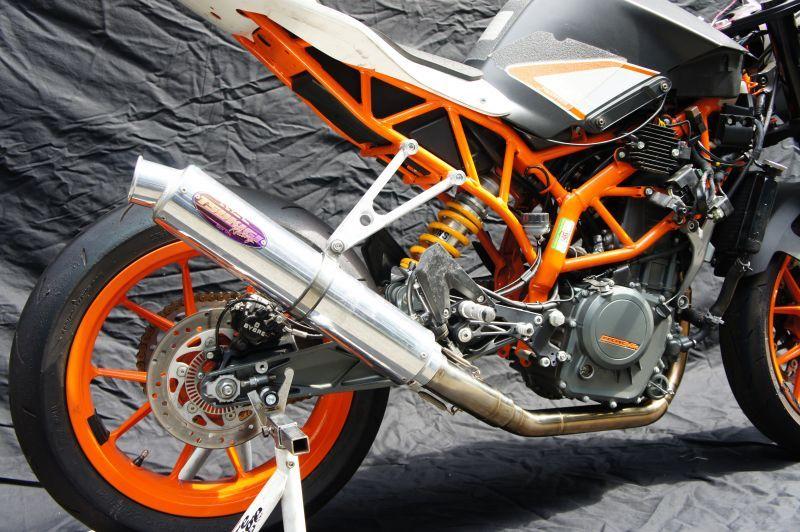 画像2: KTM RC250 TRエキゾーストシステム アルミサイレンサーΦ100x500mm レースタイプ