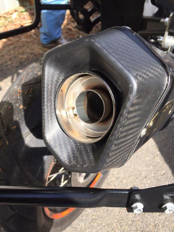 画像5: KTM 1290 SUPER DUKE R/SE TRエキゾーストシステム スリップオン カーボンヘキサゴンサイレンサー