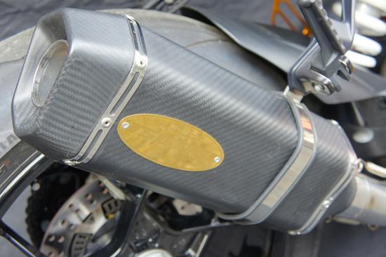 画像4: KTM 1290 SUPER DUKE R/SE TRエキゾーストシステム スリップオン カーボンヘキサゴンサイレンサー