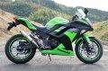 KAWASAKI Ninja250 `13〜`17 TRエキゾーストシステム アップタイプ ステンレスショートサイレンサー Φ83X250