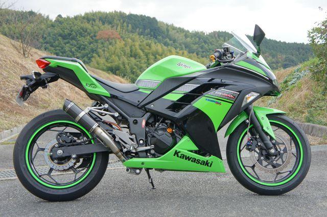 画像1: KAWASAKI Ninja250 `13〜 TRエキゾーストシステム アップタイプ カーボンショートサイレンサー Φ83X220