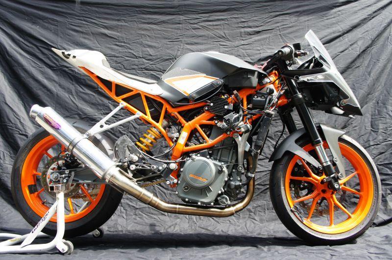画像1: KTM RC250 TRエキゾーストシステム アルミサイレンサーΦ100x500mm レースタイプ