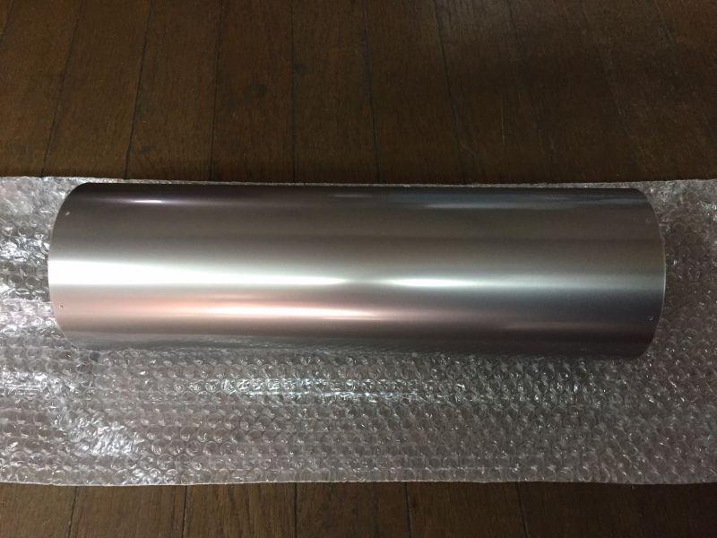 画像1: 【自作材料】チタンサイレンサーボディ Φ116.6xt0.5x370mm