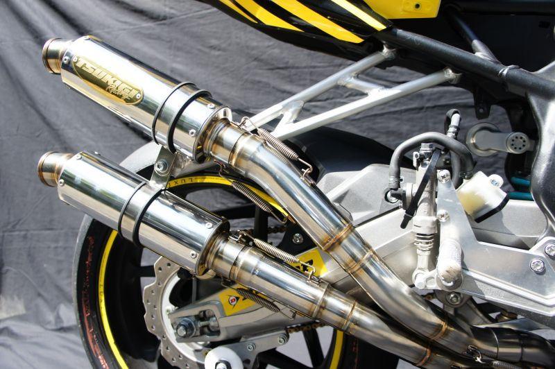 画像2: 【HRC車専用】HONDA CBR250RR TRエキゾーストシステム ステンレスショートサイレンサー 2本出し