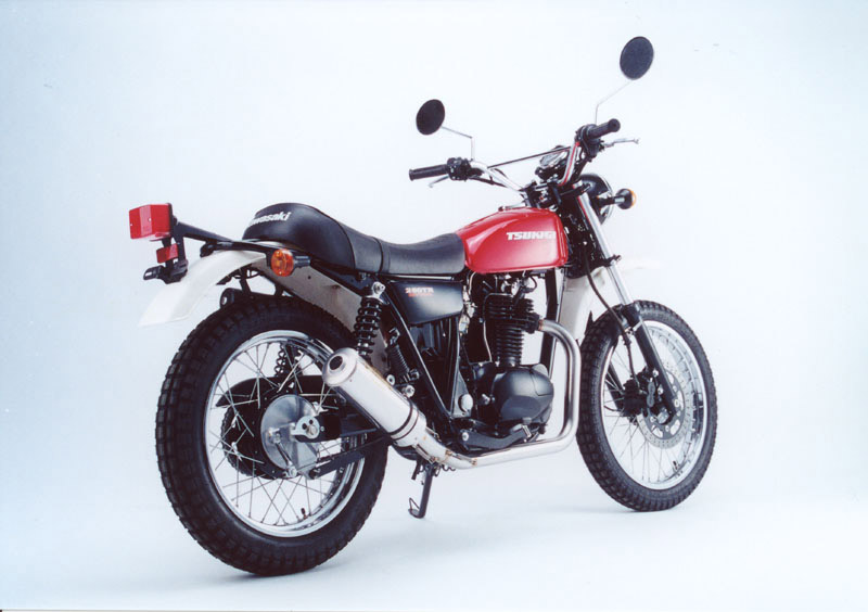 画像1: KAWASAKI 250TR TRエキゾーストシステム ステンレスサイレンサー Φ100X300